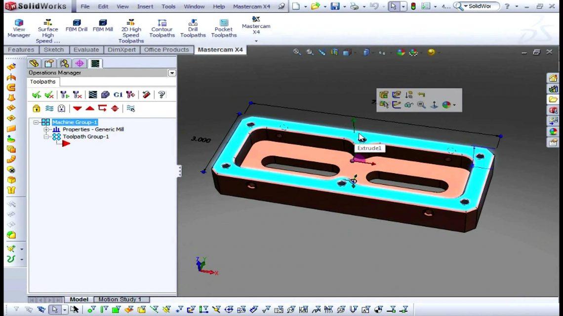 Le logiciel Mastercam pour SolidWorks